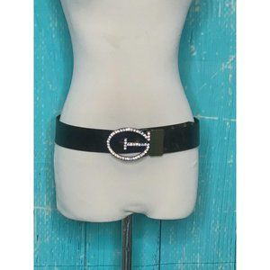 Guess Embellished G Buckle Leather Belt Size S